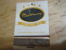 Vintage Fred Haarvey Hotels Restaurants Established 1876 used matchbook