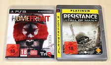 2 PLAYSTATION 3 SPIELE SET - HOMEFRONT & RESISTANCE FALL OF MAN - PS3 UNCUT