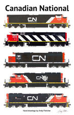 "Canadian National Locomotives 11""x17"" Poster by Andy Fletcher signed"