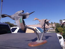 1989 1990 Ducks Unlimited Wood Carved Ducks in Flight by William Veasey