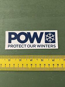 POW sticker skiing