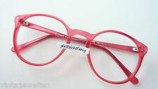 Fieges Panto Brille knallig pink Kultbrille Fassung ohne Gläser Markenware sizeS