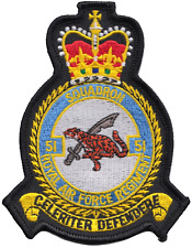 No. 51 Squadron RAF Regiment Royal Air Force MOD Crest Embroidered Patch