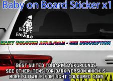 Baby on Board Sticker,Window,Car,Van,MPV,4x4 kids,school,baby,pram,cot dark car