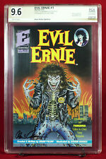 EVIL ERNIE #1 PGX 9.6 NM+ Near Mint signed BRIAN PULIDO 1st LADY DEATH HTF +CGC!