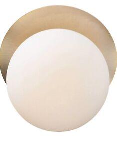 Maxim Lighting Vesper 1-Light Wall Sconce, Satin Brass/Black - 26033SWSBRBK