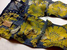 Denim & Supply Ralph Lauren Men Sunflower Paint Artwork Distressed Artist Jeans