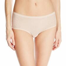 OnGossamer Women's Modern Brief Mesh Panty NEW Mocha NWT Size Large