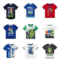 Boys Pj Masks Short Sleeve T Shirt Tee | Gekko Catboy Owlette T Shirts