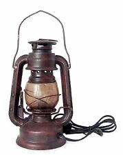 Lampe Tischlampe Western Deko USA Laterne Dekolampe elektrisch Minenlampe
