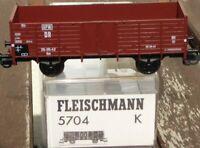 Fleischmann 5704 K Hochbordwagen Bauart Om OPW der DR Epoche 3 neuwertig in OVP