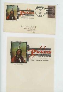 Mr Fancy Cancel Plains Hotel Cheyenne Wyoming 1956 Cvr #2045
