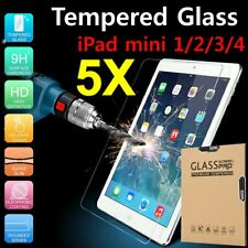 5x 9H 0.33mm Tempered GLASS Screen Protector Film For Apple iPad Mini 1 2 3 4 US