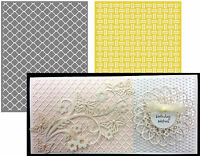 Chain embossing folder set Lifestyle Crafts embossing folders weave EF0029