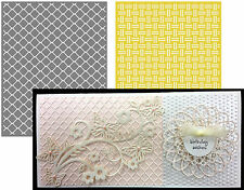 Lifestyle Crafts Embossing Folders CHAIN embossing folder set  weave EF0029