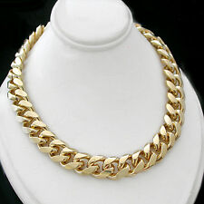 """11mm ROUNDED CURB Solid Link 14k GOLD Layered 30"""" 146g Necklace + LIFETIME GUAR"""