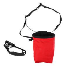 Rock Climbing Ascension Left Handed Rope Clamp Ascender Riser w/ Chalk Bag