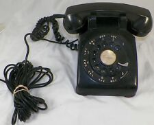VINTAGE C/D 500 1953 BLACK WESTERN ELECTRIC ROTARY DIAL TELEPHONE