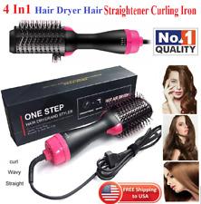 Hair Dryer Brush 2 In 1 Hair Straightener Curler Comb Electric Blow Dryer (1000W