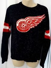 DETROIT RED WINGS Womens Sweater XL 18 Lightweight Black Speckled Design New
