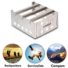 LIXADA Stainless Steel Super Light  Wood Stove Outdoor Camping Burner CO C1Y6