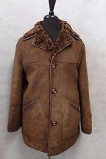 Men's Luxury Shearling Brown Anna Davies Genuine Sheepskin Coat 40R JB425