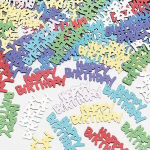 14g Happy Birthday Mix Glitz Foil confetti Table Party Events Decorations