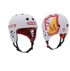 S&M ProTec Full Cut Certified Helmet - White - Small - BMX - Skate - Bicycle