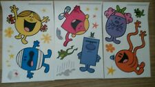 Mr Men & Little Miss Roger Hargreaves x20 Wall Stickers Set-NEW