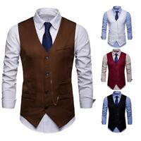 Herren Blazeranzug Anzug Weste Smoking Anzugweste Business Formal Hochzeit BS