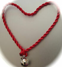Silver Bell Mini Red Faith Rope String Protection Bracelet Kabbalah