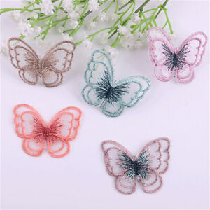 10-pack Sewing On Patches Fabric Butterflies For Clothes DIY Crafting Decoration
