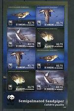 St Vincent & The Grenadines 2014 MNH Semipalmated Sandpiper WWF 8v M/S Birds