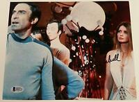 CATHERINE SCHELL Signed 8x10 Photo Space 1999 Maya Actress #3 w/ Beckett BAS COA