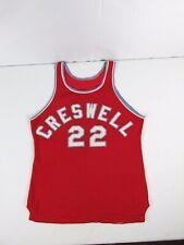 Vintage Early Rawlings CRESWELL Oregon High School Basketball Jersey Tank Top