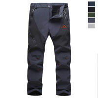 Mens Outdoor Ski Snowboard Pants Insulated Waterproof Hiking Warm Cargo Trousers