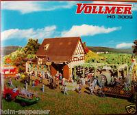 Vollmer H0 3009 Herbstfest mit Kürbisstand Autumn Festival Modellbau Spur NEU