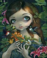 Wildwood Bouquet Jasmine Becket-Griffith CANVAS PRINT hummingbird fairy art frog