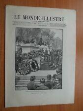 LE MONDE ILLUSTRE journal hebdomadaire 36è année n° 1834 : 21 mai 1892