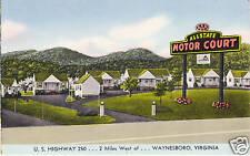 ALLSTATE Motor Court WAYNESBORO Virginia US Hwy 50 PC