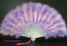 28 Leaves PinK/Lavender marabou Feather Fan, A+ Quality