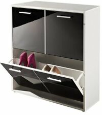 Schuhschrank für 6 Paar Schuhe in weiß, cappuccino o.schwarz 80x25x80 cm