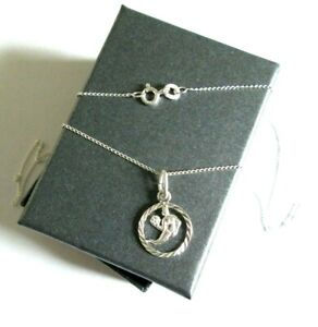 Stirling Silver *Virgo* Star sign Pendant Necklace  *in a gift box*