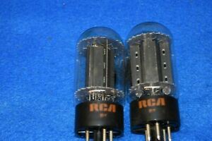 6L6GC RCA Matched Black Plate Audio Receiver Guitar Power Vacuum Tubes Tested 2