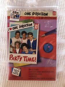 One Direction 1D Birthday Party Invitations