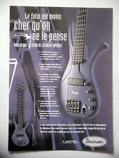 PUBLICITE-ADVERTISING :  Guitare Bass IBANEZ Ergodyne EDA  03/2002