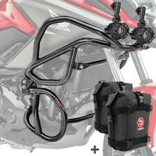 Set Sturzbügel + Scheinwerfer für Honda NC 750 X / 700 X 12-20 + K3 schwarz