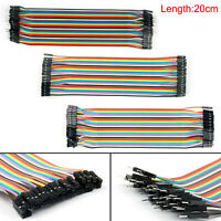 10x 40Pcs Jump Wire Jumper Cables 20cm M-M/M-F/F-F For  Breadboard BK