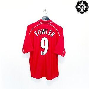 2000/02 FOWLER #9 Liverpool Vintage Reebok Home Football Shirt Jersey (L)