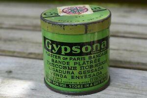 Vintage Gypsona Plaster of Paris Bandage Printed Tin (empty). 6cm High.